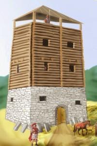 Рекострукция римской башни под Геленджиком